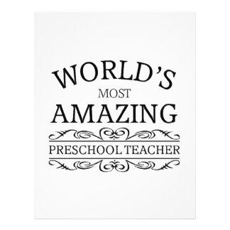 World's most amazing preschool teacher letterhead