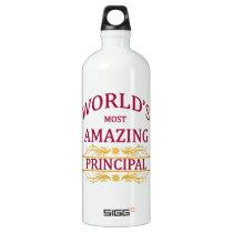 World's Most Amazing Principal Aluminum Water Bottle