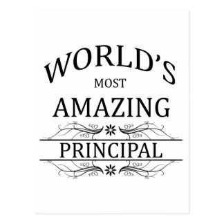World's Most Amazing Principal Postcard