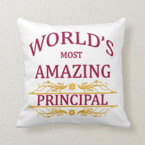 World's Most Amazing Principal Throw Pillow