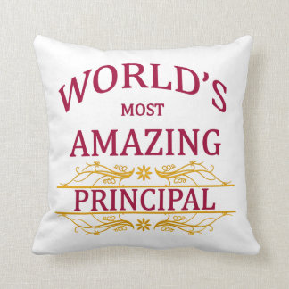 World's Most Amazing Principal Throw Pillow