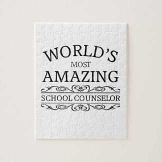 World's Most amazing school counselor Jigsaw Puzzles