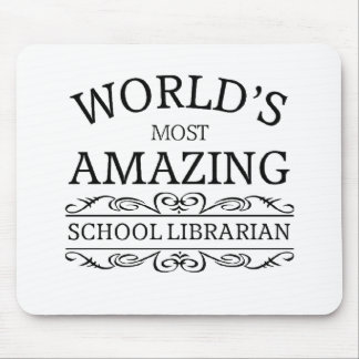 World's most amazing school Librarian Mouse Pad