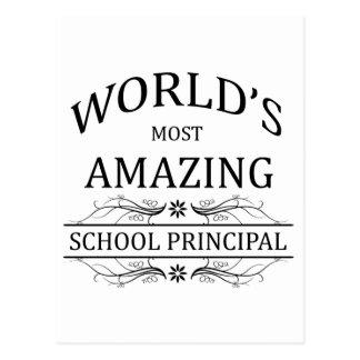 World's Most Amazing School Principal Postcard