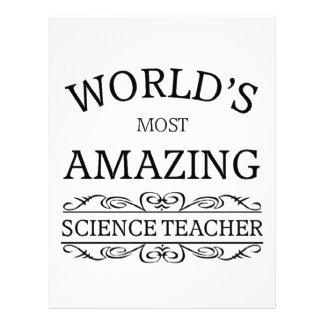 World's most amazing science teacher letterhead