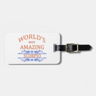 World's Most Amazing Scorpio Luggage Tag