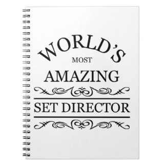 World's most amazing set director notebook