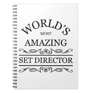 World's most amazing set director spiral notebook