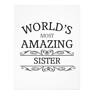 World's most amazing  sister letterhead