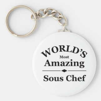 World's most amazing Sous Chef Keychain