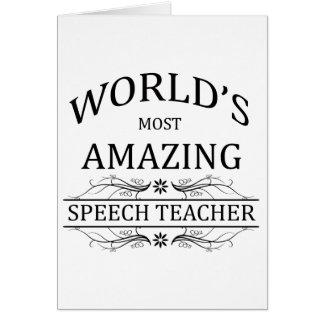 World's Most Amazing Speech Teacher Card
