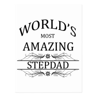 World's Most Amazing Stepdad Postcard