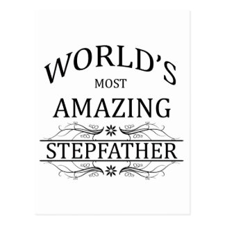 World's Most Amazing Stepfather Postcard