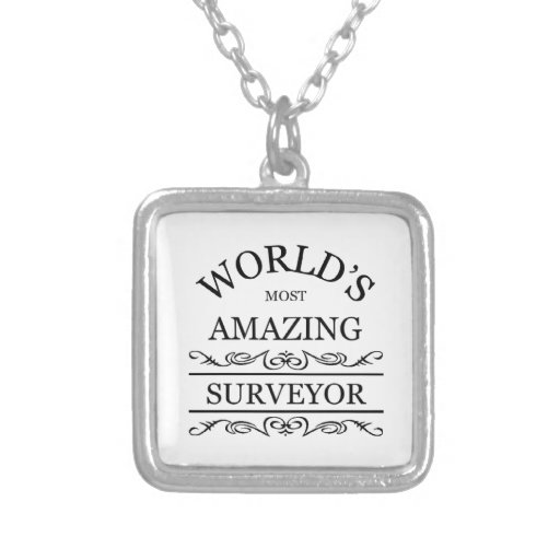 World's most amazing surveyor personalized necklace