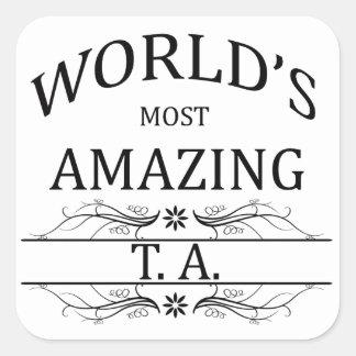 World's Most Amazing TA Square Sticker