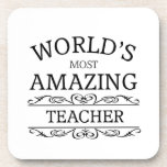 World's Most amazing teacher Coasters