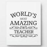 World's Most amazing teacher Display Plaques