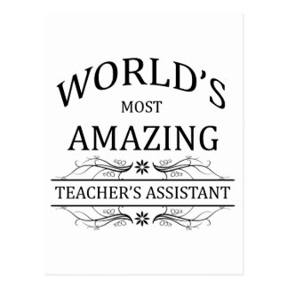 World's Most Amazing Teacher's Assistant Postcard