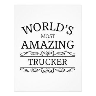 World's most amazing Trucker Letterhead