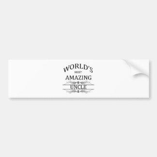 World's Most Amazing Uncle Car Bumper Sticker