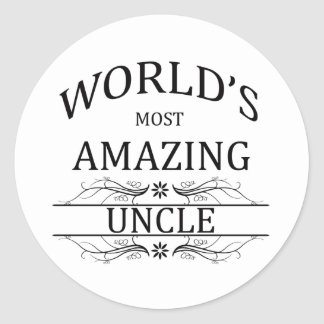 World's Most Amazing Uncle Classic Round Sticker