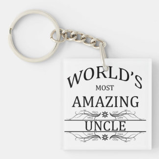 World's Most Amazing Uncle Keychain