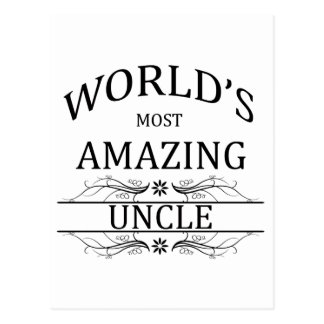 World's Most Amazing Uncle Postcard