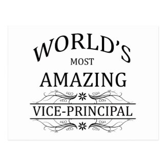 World's Most Amazing Vice-Principal Postcard
