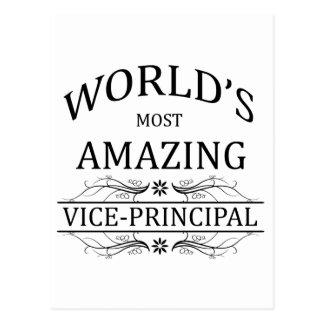 World's Most Amazing Vice-Principal Postcard
