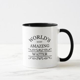 World's most amazing waiter mug
