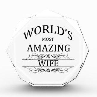 World's Most Amazing Wife Acrylic Award