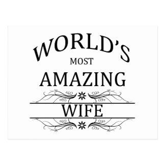 World's Most Amazing Wife Postcard