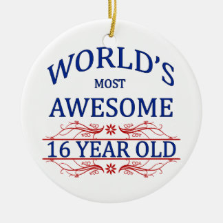 World's Most Awesome 16 Year Old Ceramic Ornament