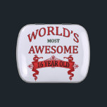 """World&#39;s Most Awesome 16 Year Old Jelly Belly Candy Tin<br><div class=""""desc"""">A fun design to honor the world&#39;s most awesome 16 year old celebrating a milestone birthday.</div>"""