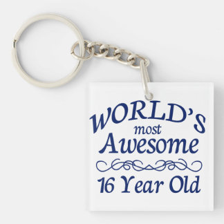 World's Most Awesome 16 Year Old Keychain