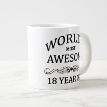 World's Most Awesome 18 Year Old Giant Coffee Mug