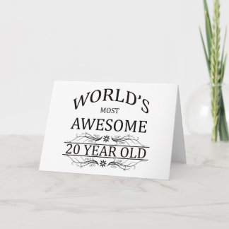 World's Most Awesome 20 Year Old Card