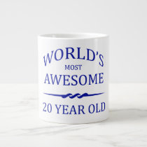 World's Most Awesome 20 Year Old Large Coffee Mug