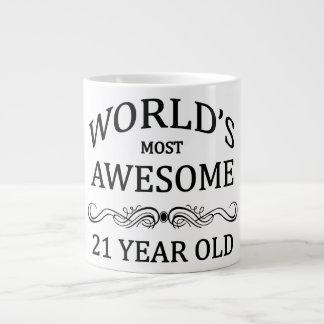 World's Most Awesome 21 Year Old Large Coffee Mug