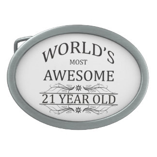 World's Most Awesome 21 Year Old Oval Belt Buckle