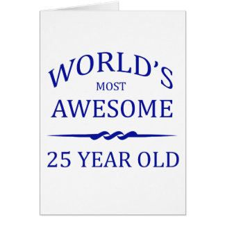 World's Most Awesome 25 Year Old Card