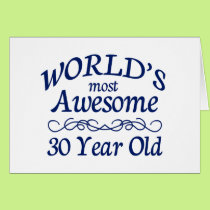 World's Most Awesome 30 Year Old Card
