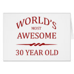 World's Most Awesome 30 Year Old Cards