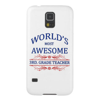 World's Most Awesome 3rd. Grade Teacher Galaxy S5 Cover