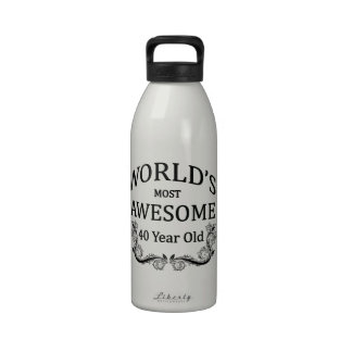 World's Most Awesome 40 Year Old Drinking Bottles