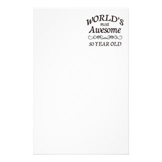 World's Most Awesome 50 Year Old Stationery