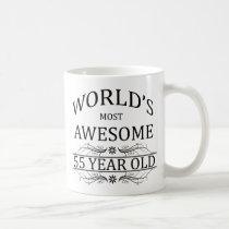 World's Most Awesome 55 Year Old Coffee Mug