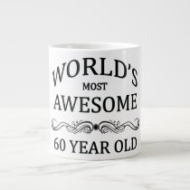 World's Most Awesome 60 Year Old Large Coffee Mug