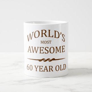 World's Most Awesome 60 Year Old. Large Coffee Mug