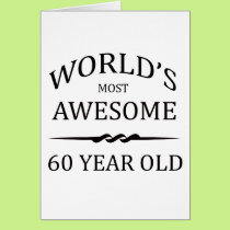 World's Most Awesome 60 Years Old Card
